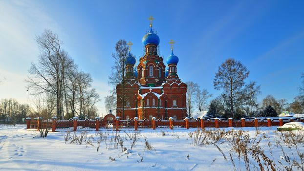Photo free Church of the Intercession of the Blessed Virgin in Cherkizovo, frost, cathedral