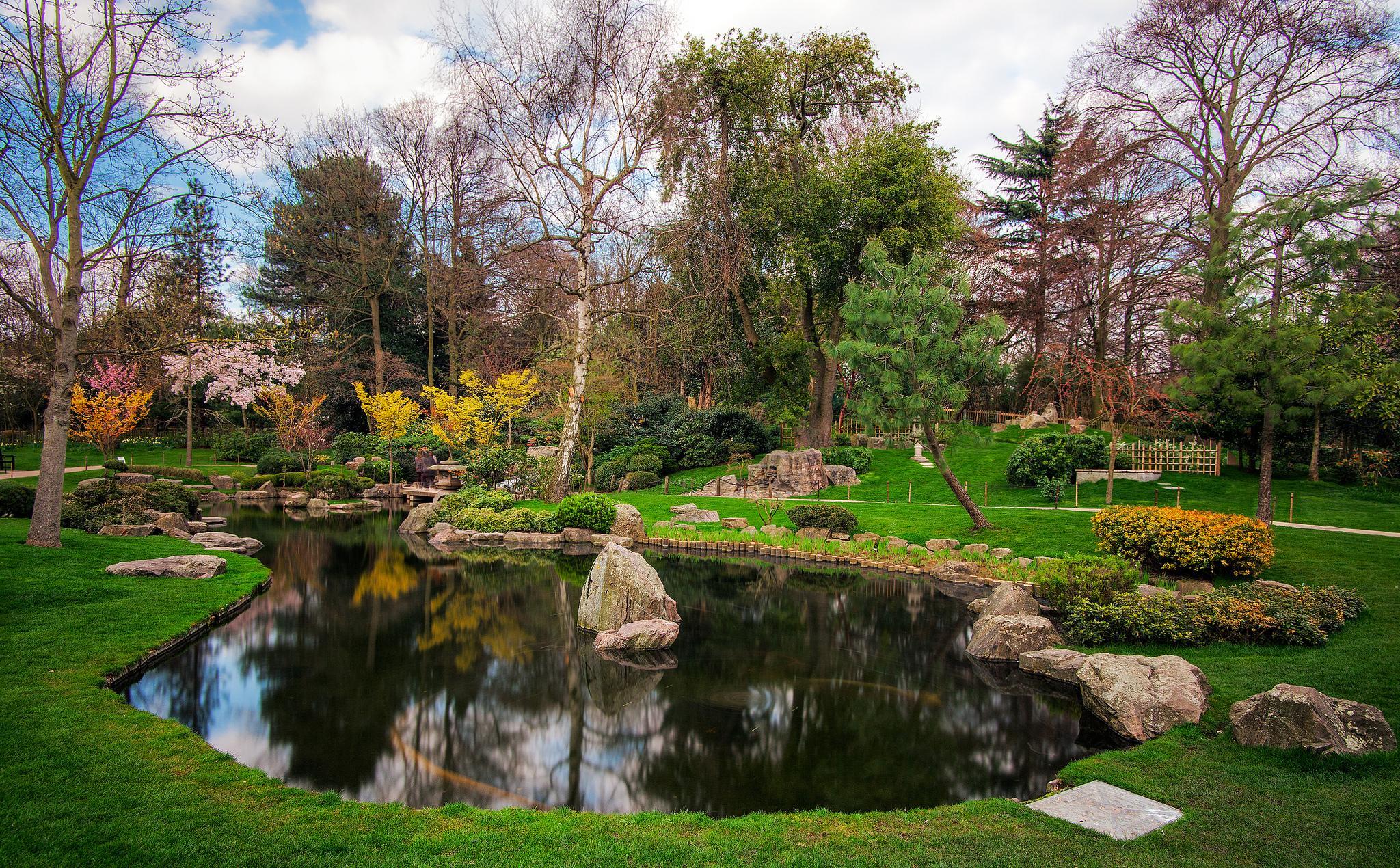 обои Лондон, Киото, Японский сад, Holland Park картинки фото