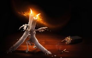 Заставки свечи, танец, пламя