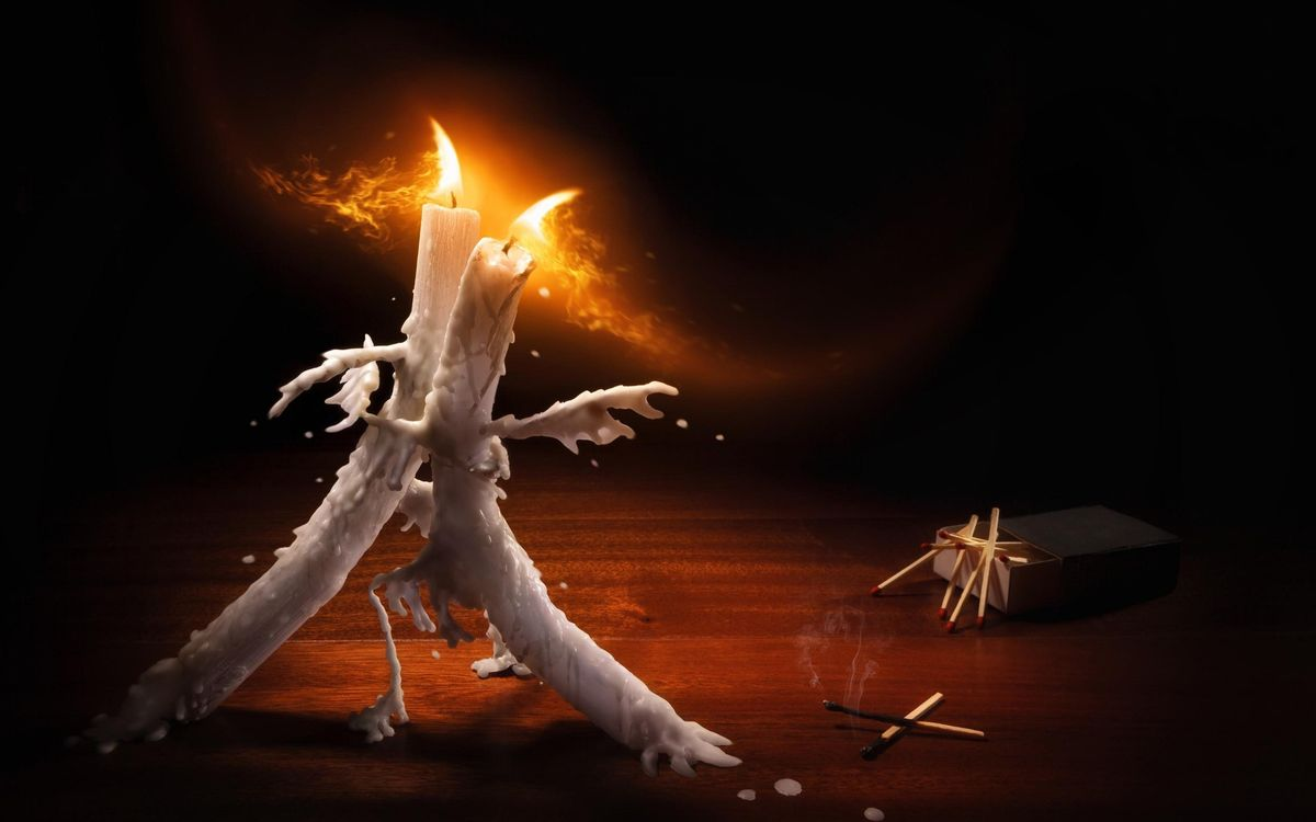 Обои свечи, танец, пламя картинки на телефон