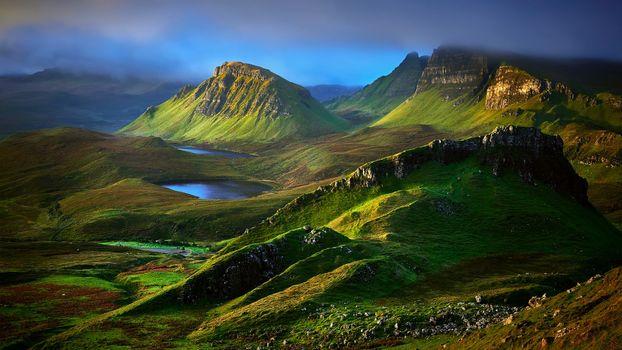 Фото бесплатно горы, озера, небо