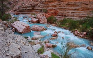 Бесплатные фото река, течение, камни, порода, скалы, растительность