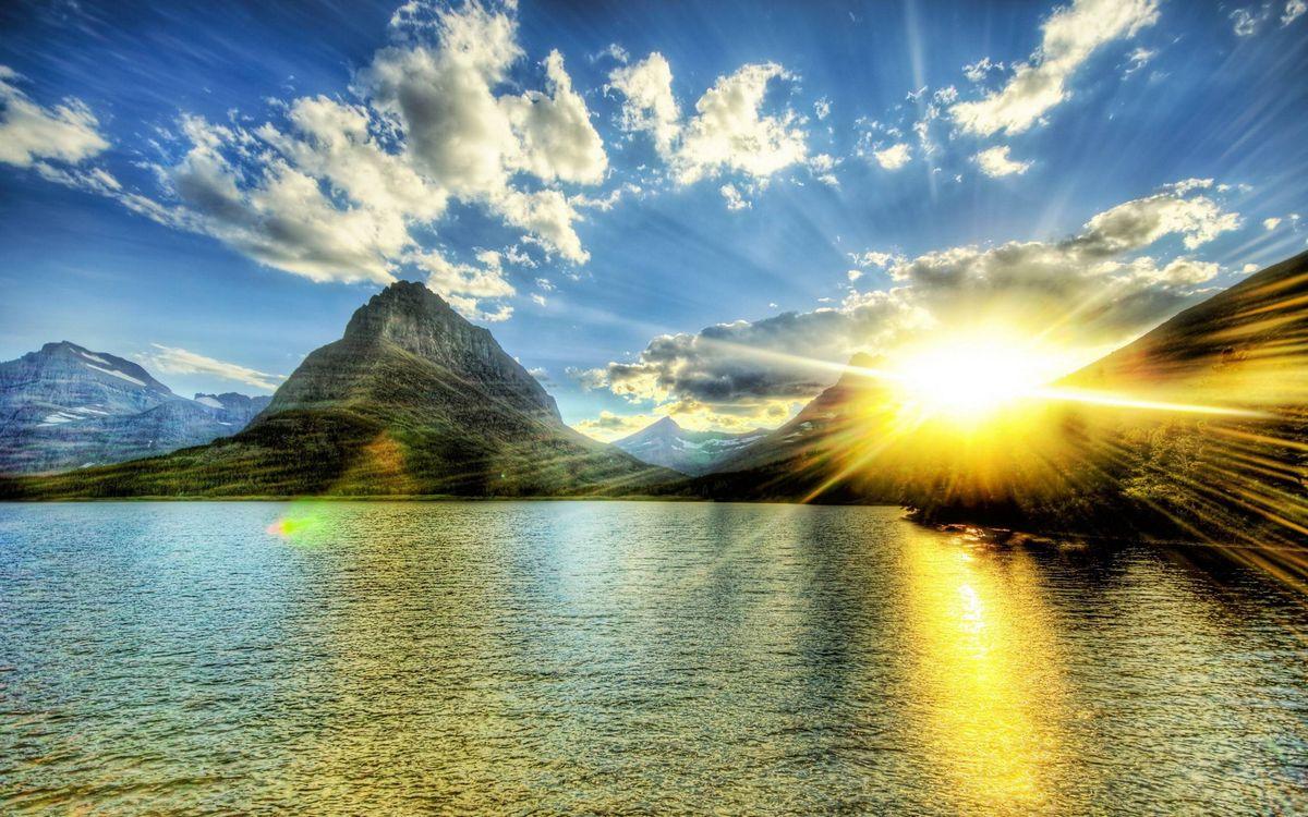 Фото бесплатно небо, побережье, Солнце - на рабочий стол