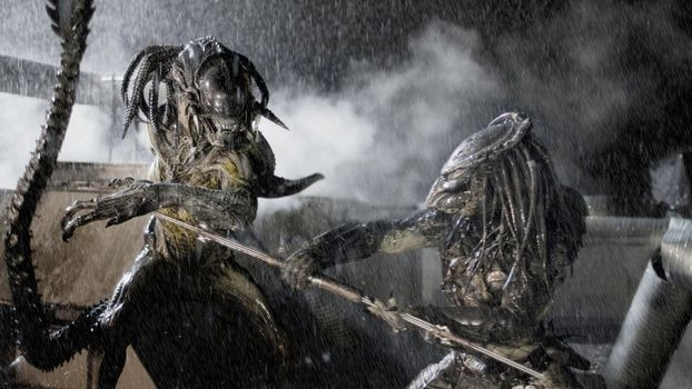 Фото бесплатно чужой против хищника, схватка, битва