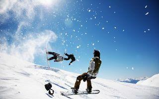 Бесплатные фото гора,снег,спуск,сноуборд