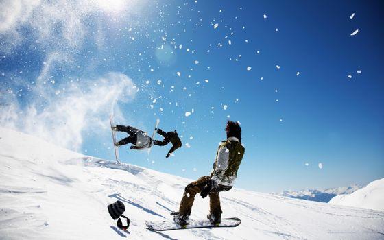 Фото бесплатно гора, снег, спуск