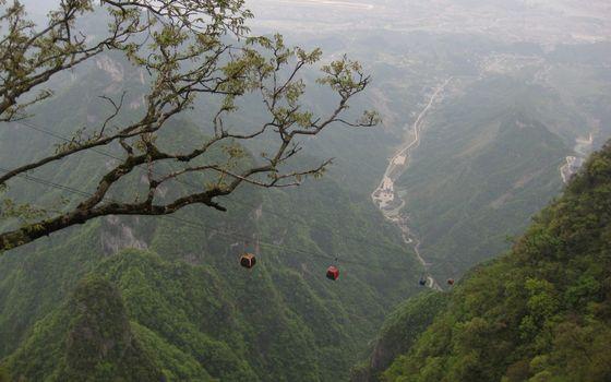 Бесплатные фото горы,вершины,растительность,фуникулер,дорога,курорт