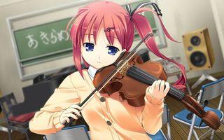 Фото бесплатно девушка, скрипка, смычок