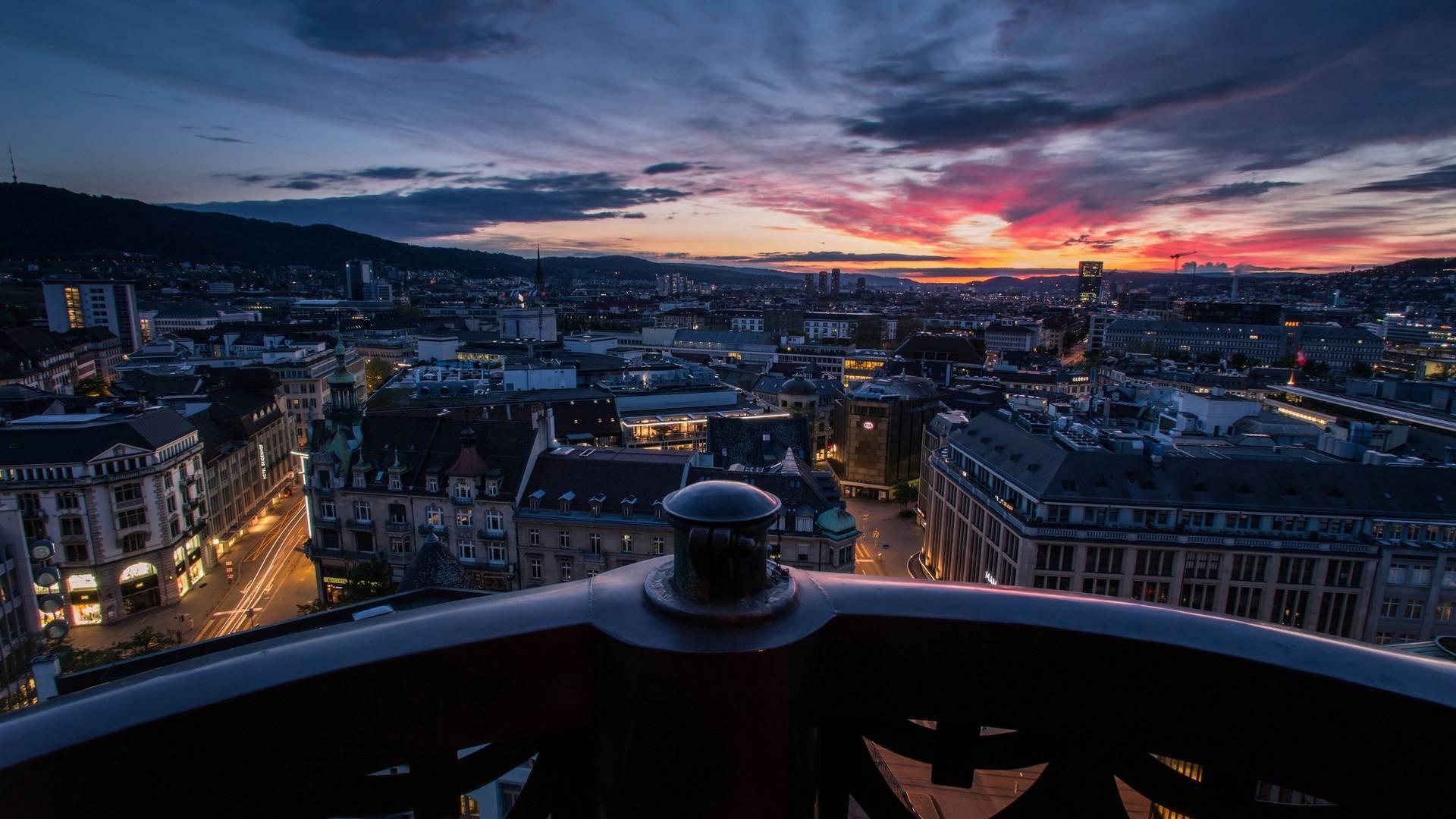 Обои швецария, цюрих, балкон, вечер на телефон картинки unde.