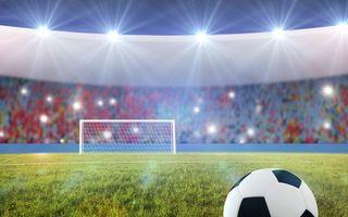 Бесплатные фото футбольное поле, стадион, трава, мяч, ворота, трибуны, болельщики