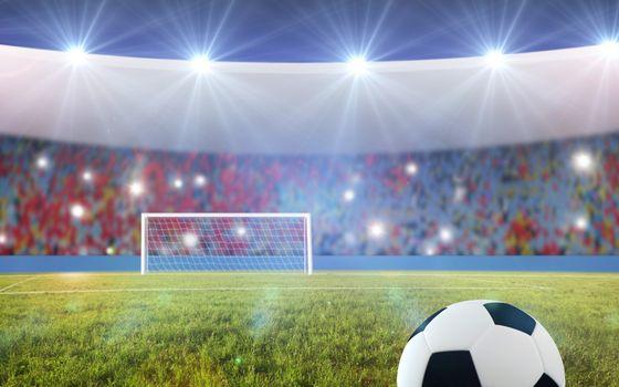 Photo free football field, stadium, grass