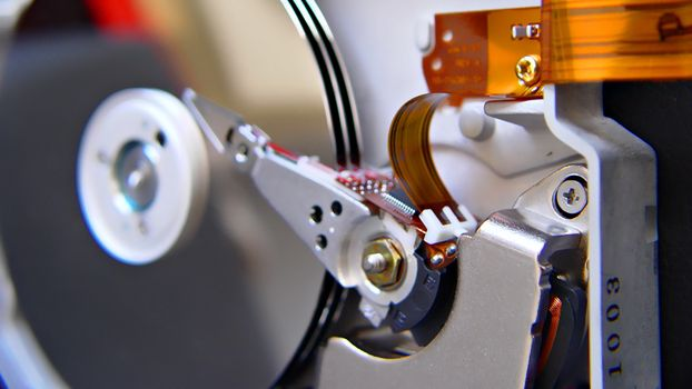 Photo free hard drive, cable, mechanism
