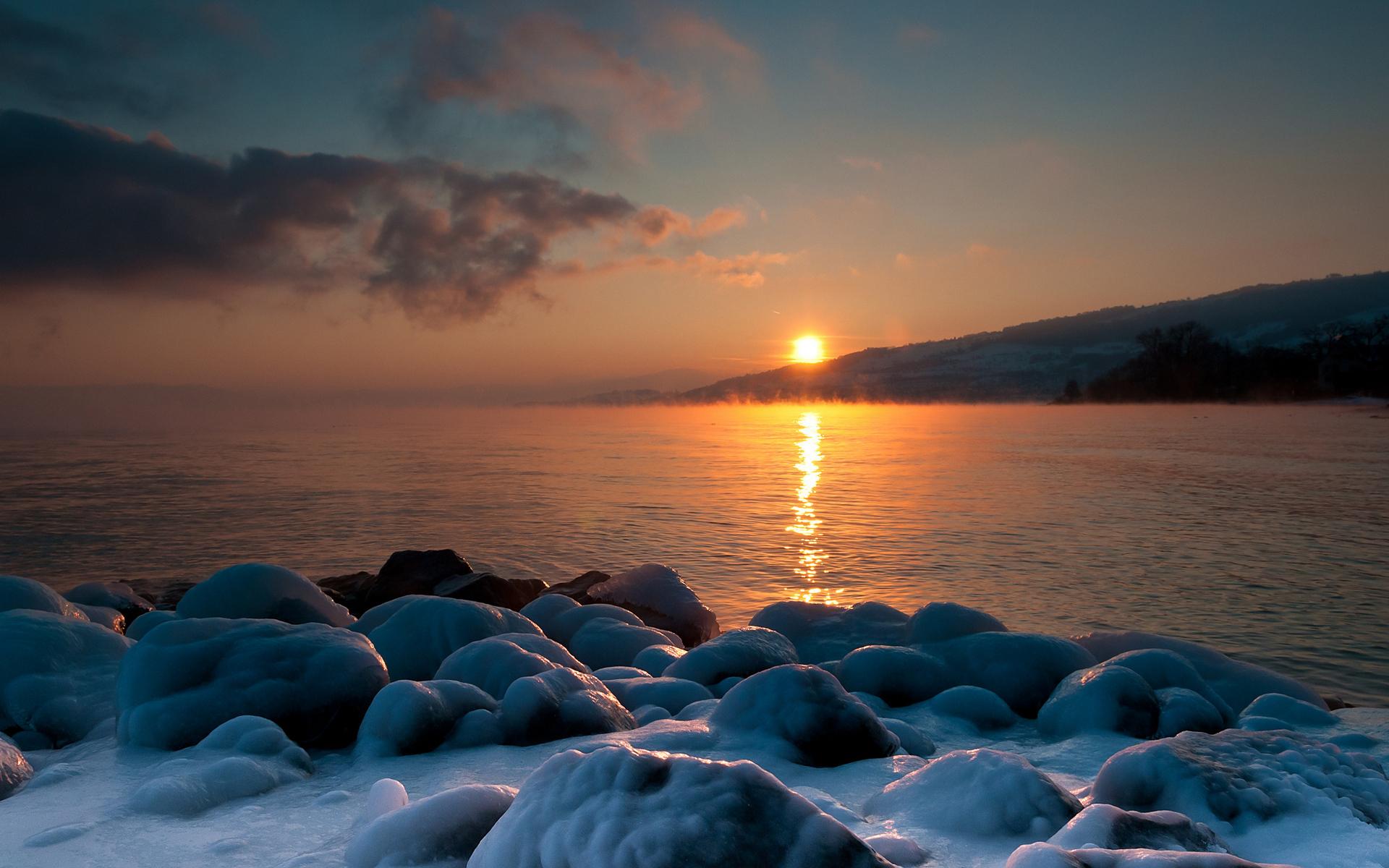 его фото море зимой рассвет стерлитамакскую воспитательную