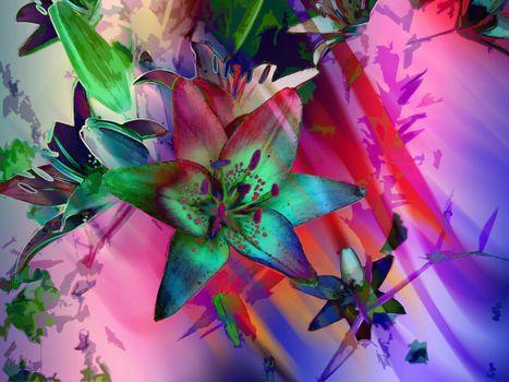 Заставки Цветочная композиция,абстракция,art