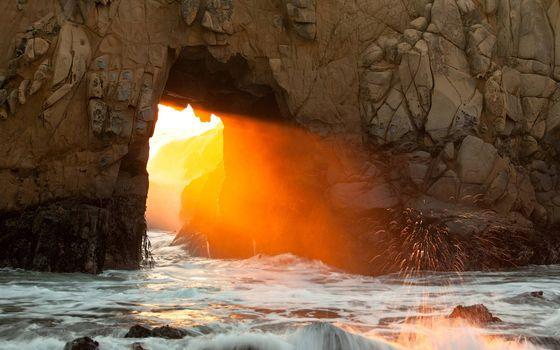 Photo free rock, arch, seashore