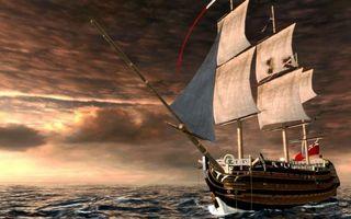 Бесплатные фото море,волны,корабль,мачты,паруса,небо,облака