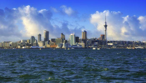 Обои новая зеландия, город на рабочий стол высокого качества