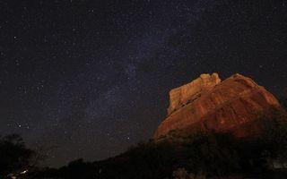 Photo free night, mountain sandstone, vegetation
