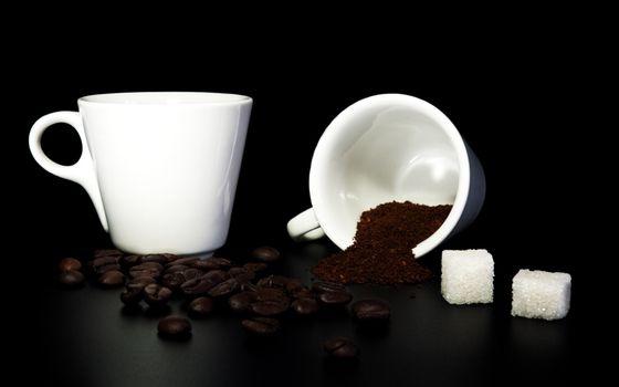 Фото бесплатно чашки, кофе, молотый