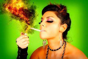 Фото бесплатно сигарета, лицо, светлее