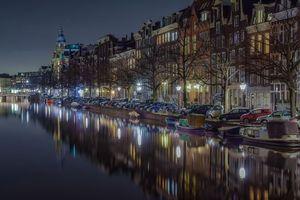 Фото бесплатно город, ночь, Амстердам