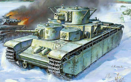 Бесплатные фото танк,война,огонь,люди,дым,снег