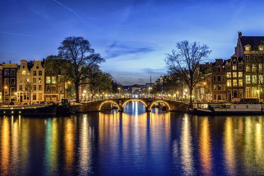 Обои амстердам, столица и крупнейший город нидерландов на рабочий стол высокого качества