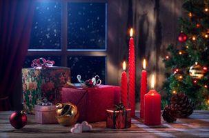 Фото бесплатно новый год, ёлка, новогодний фон