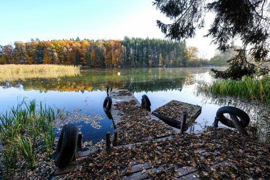 Бесплатные фото Осенний цветной канал,Эстеръётланд,Швеция
