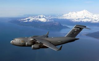 Photo free military Boeing USA, flying, over the sea