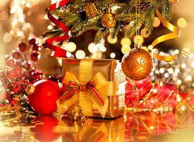 Фото бесплатно Рождество, игрушки, ёлка