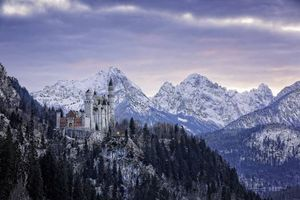 Бесплатные фото Neuschwanstein Castle, Bavaria, Germany, Замок Нойшванштайн, Бавария, Германия