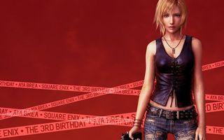 Фото бесплатно девушка, блондинка, взгляд, пистолет, ленты, надписи