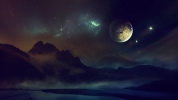 Заставки космос, свечение, метеориты