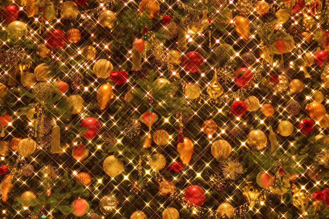 Фото бесплатно новогодняя ёлка, игрушки, шары - на рабочий стол