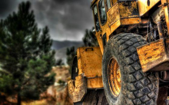 Фото бесплатно спецтехника, каток, трактор