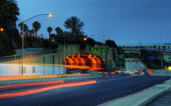 Фото бесплатно вечер, дороги, мост