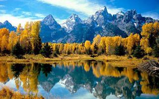 Бесплатные фото осень,озеро,отражение,деревья,лес,горы,скалы