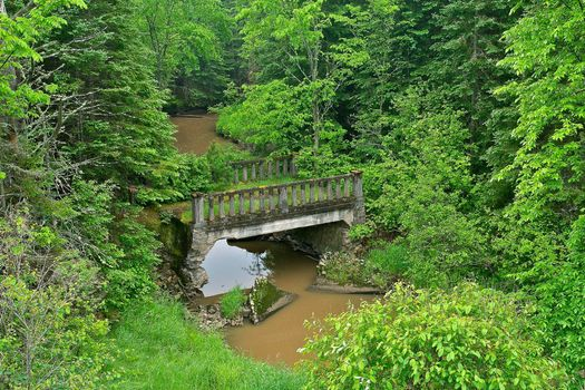 Photo free anderson creek bridge, tarbutt township, ontario