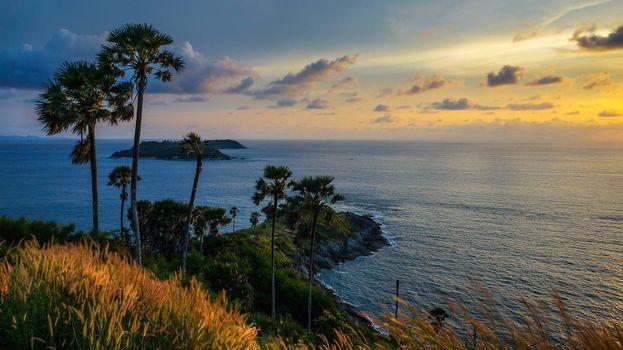 Фото бесплатно закат, море, Южный Таиланд