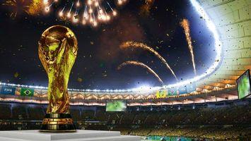 Фото бесплатно Fifa 2018, кубок, фейерверк