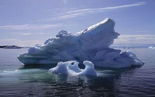 Бесплатные фото море,айсберг,льдина,глыба,небо,облака