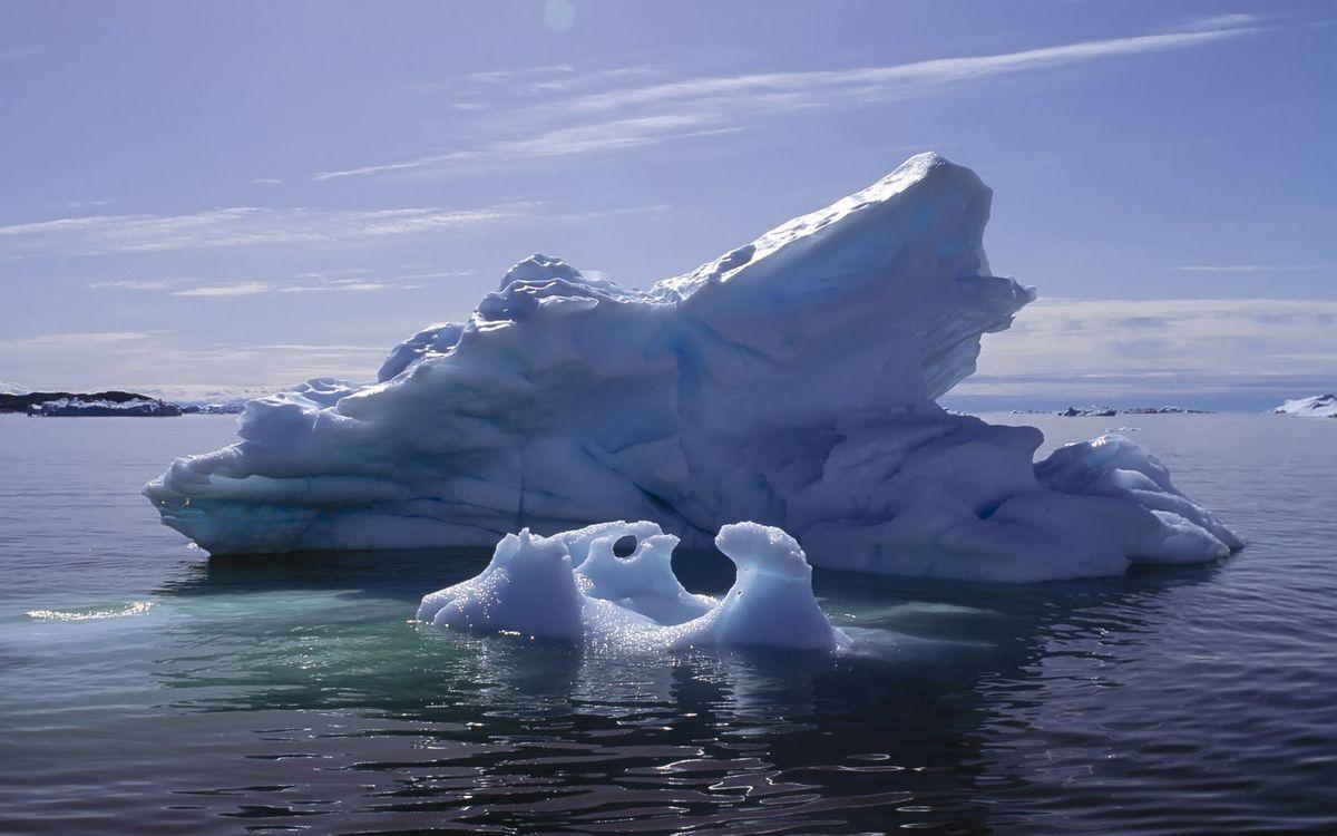 Фото бесплатно море, айсберг, льдина - на рабочий стол
