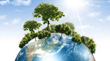 Фото бесплатно планета Земля, деревья, солнце, небо