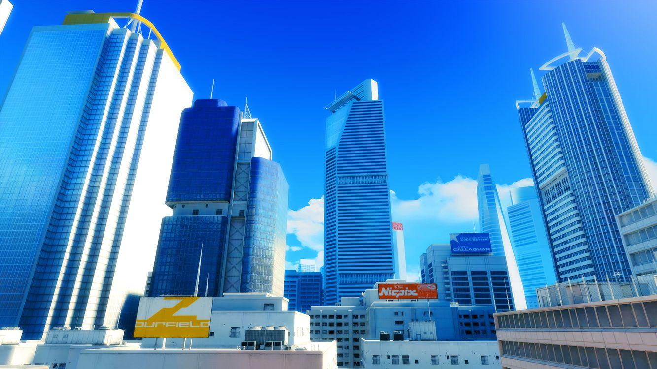 Фото бесплатно дома, небоскребы, здания, вывески, небо, облака, город