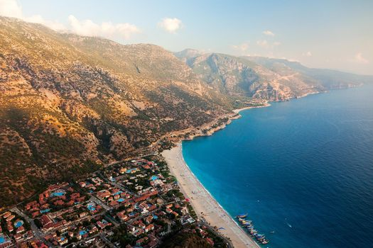 Photo free Aerial view of Oludeniz along the Mediterranean coast, Turkey