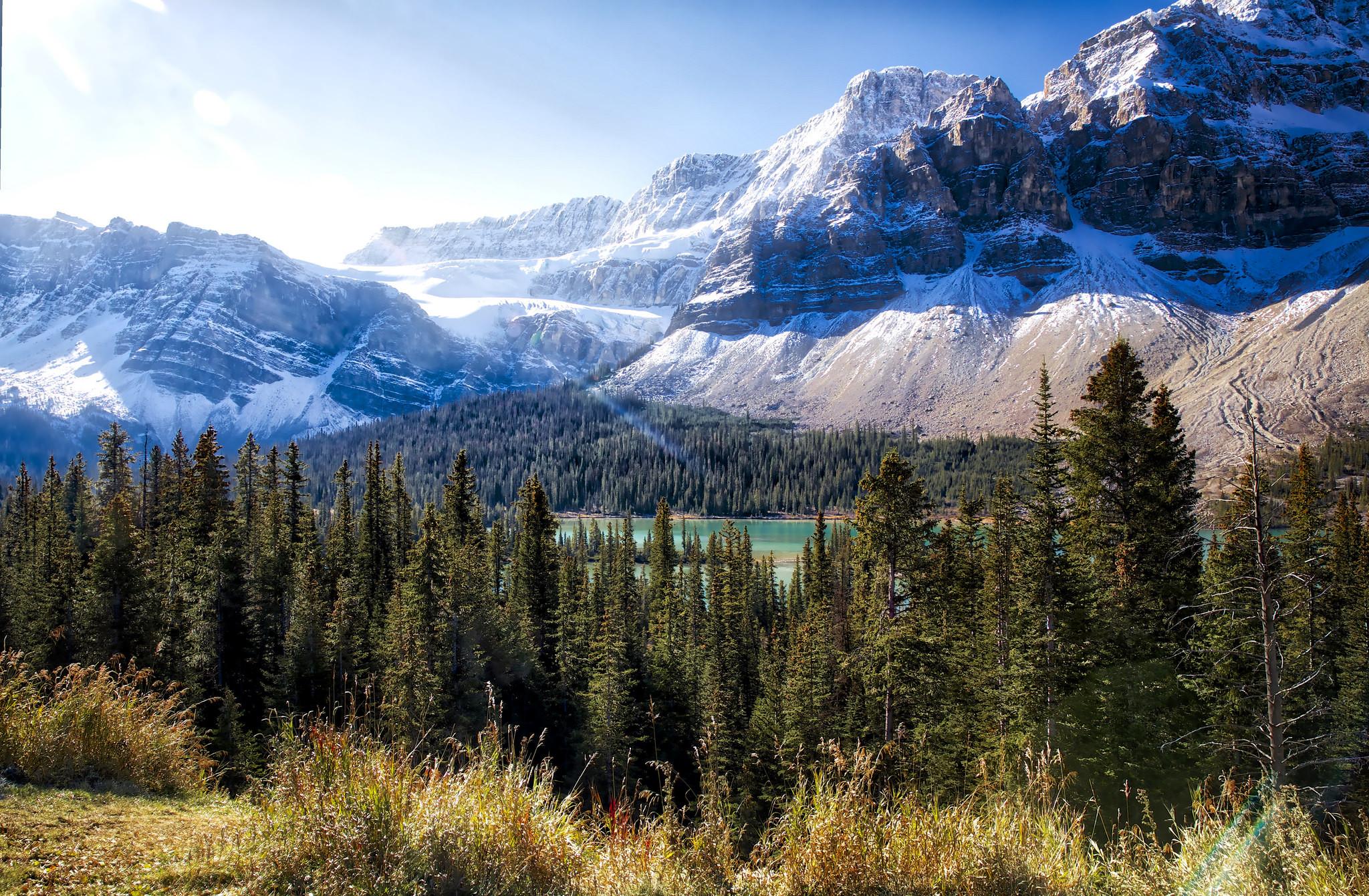 обои Bow Lake, Alberta, Canada картинки фото
