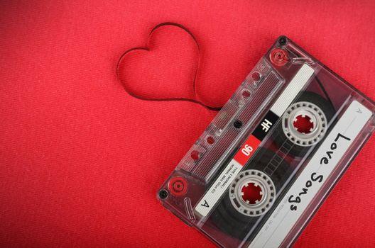 Photo free music cassette tape, heart, music