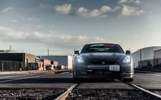 Photo free Nissan GTR, lights, light