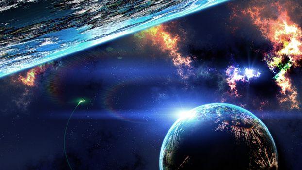 Фото бесплатно планеты, космос, звезда